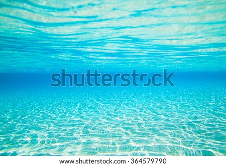 Stock Photo underwater scene with copy space
