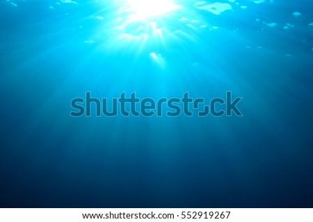 Underwater sea ocean blue water background #552919267
