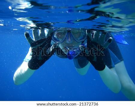 Underwater Snorkel Fun in the Sea