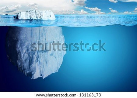 underwater view of iceberg with ...