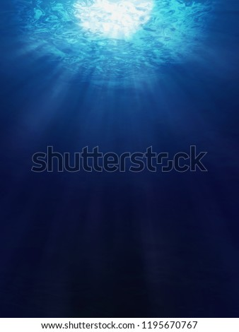 Underwater view of the sea surface  #1195670767