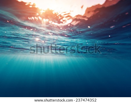 Underwater view of the sea surface #237474352