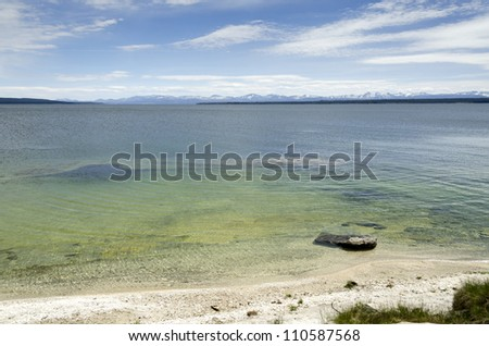 Underwater volcano in Yellowstone Lake in Yellowstone National Park in Wyoming in the United States of America