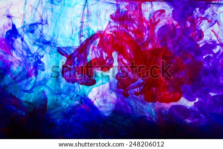 underwater world of color and light - Shutterstock ID 248206012