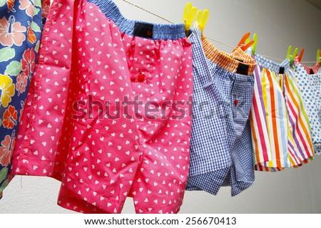 underwear, colored underwear, funny panties #256670413