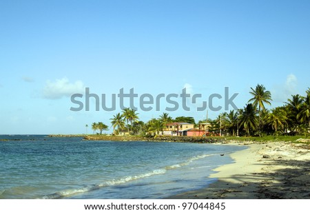 undeveloped North End Beach hotel Caribbean Sea Big Corn Island Nicaragua Central America