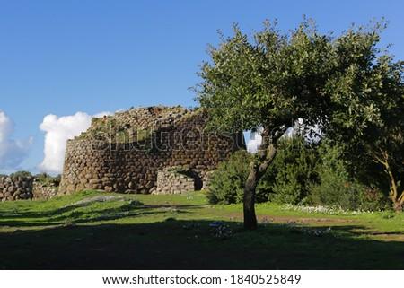 unesco cultural heritage, Nuraghe Losa Foto stock ©