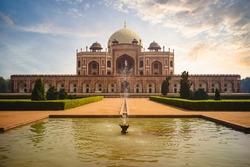 unesco heritage site Humayun Tomb in New Delhi, India
