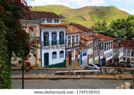 UNESCO heritage town of Ouro Preto in Minas Gerais in in Brazil Foto stock ©