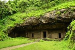 Unesco. Hindu Temple, Elephanta Island caves, near Mumbai, Bombay, Maharashtra state, India