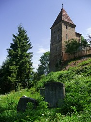 UNESCO World Heritage. Medieval Walls of the historic town of Sighisoara. View of the Ropemakers' Tower. Transylvania. Romania.