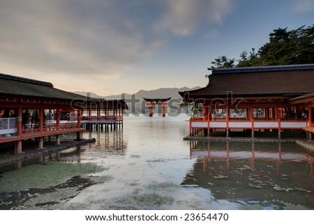 Unesco world heritage shrine in Miyajima, Japan