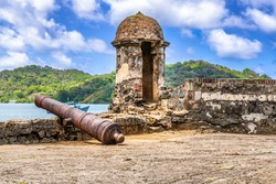 UNESCO World Heritage Site Fort San Jeronimo is a tremendous example of 17th century military fortifications located in Portobelo, Panama.