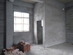 Unfinished apartment interior