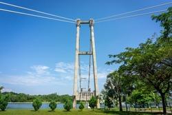 Unfinished Iconic Bridge at Putrajaya, Malaysia