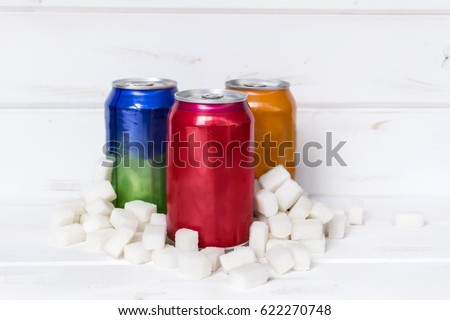 Shutterstock Unhealthy drinks concept - too much sugar in carbonated drinks.Diet and sweet addiction concept