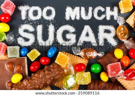 Unhealthy food concept - sugar