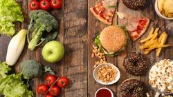 unhealthy or healthy food