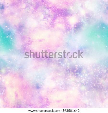 Unicorn Colours Galaxy Universe Print  Seamless Pattern in Repeat