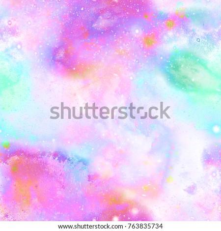 Unicorn Marble Galaxy Print  Seamless Pattern in Repeat