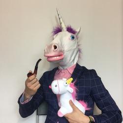 Unicorn smoking pipe with a puppet unicorn