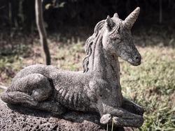 Unicorn stone statue