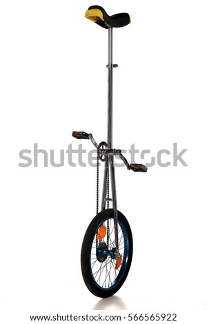 unicycle on a white background - Shutterstock ID 566565922