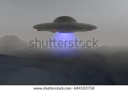 Unidentified flying object (3d rendering)