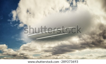 unidentified flying object falling from the sky