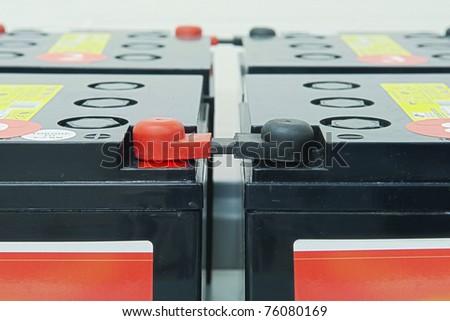 Uninterruptible Power Supply Batteries - stock photo