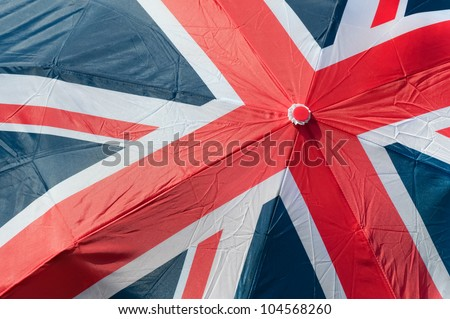 union flag of great britain printed on an umbrella