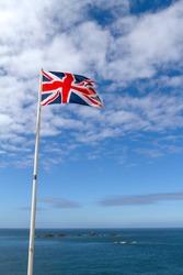 Union Flag on Flag Pole