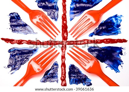 Union Forks, Abstract Union Flag