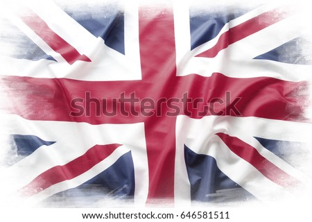 Union Jack flag on plain background #646581511