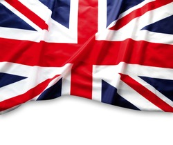 Union Jack flag on white background