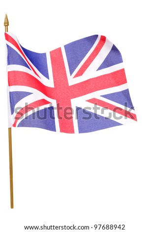 union jack flag studio cutout