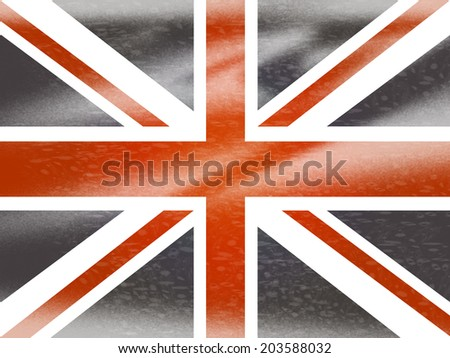 Union Jack Representing United Kingdom And Nation #203588032