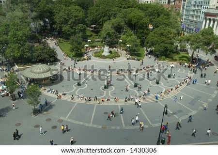 Union Square, New York. Vew from above