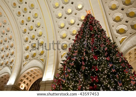 Union Station Christmas Tree in Washington DC