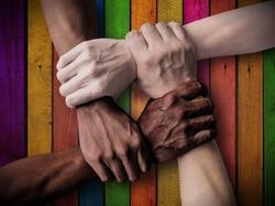 Union Teamwork. Team Inclusiveness. Inclusive Company - Inclusive Society