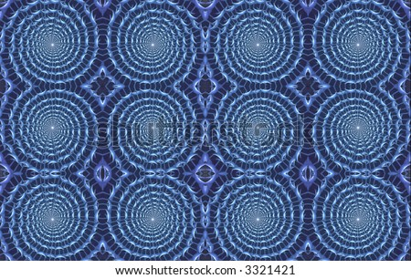 Unique abstract background, tiles of interwoven circles