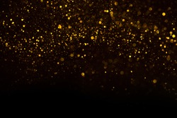 Unique abstract gold dust rain bokeh background