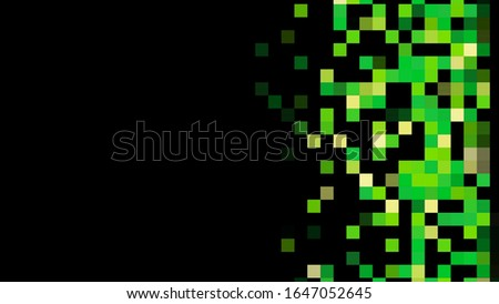 Unique abstract pixel animation. Animation. Abstract animation of multicolored pixel spot moving horizontally n the black background. stock photo