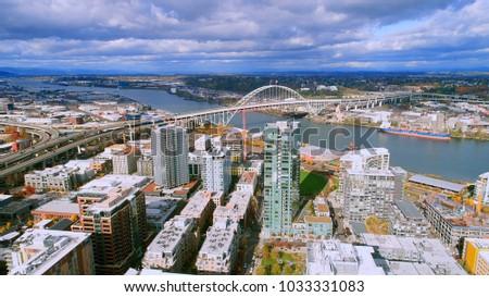 unique aerial perspective of...