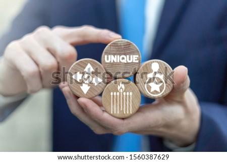 Unique Business Creativity Individual Success Concept. #1560387629