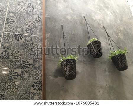Unique cafe interior design idea / Unique plant cafe interior / Unique wall interior / Unique pattern wall design / space design /modern interior