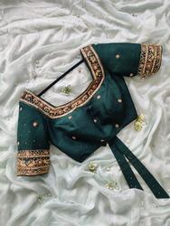 Unique colourful hand embroidered designer blouses