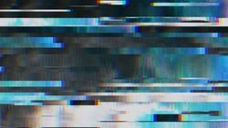 Unique Design Abstract Digital Pixel Noise Glitch Error Video Damage