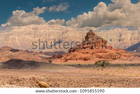 Unique geological formations belonging to Jurassic period, national nature reserve geological Timna park, Israel   #1095855590
