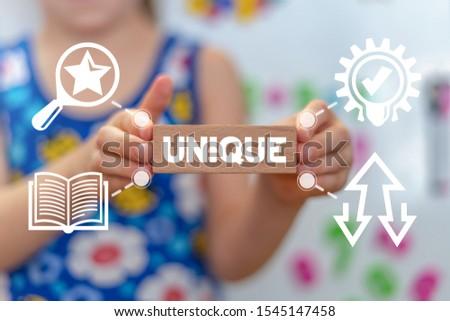 Unique Individual Leader Talent Child Education Concept. #1545147458
